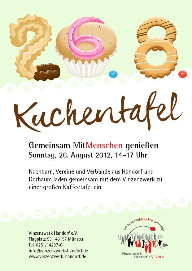 Einladung Zur Kuchentafel Am 26 08 Ab 14 Uhr Vinzenzwerk Handorf E V